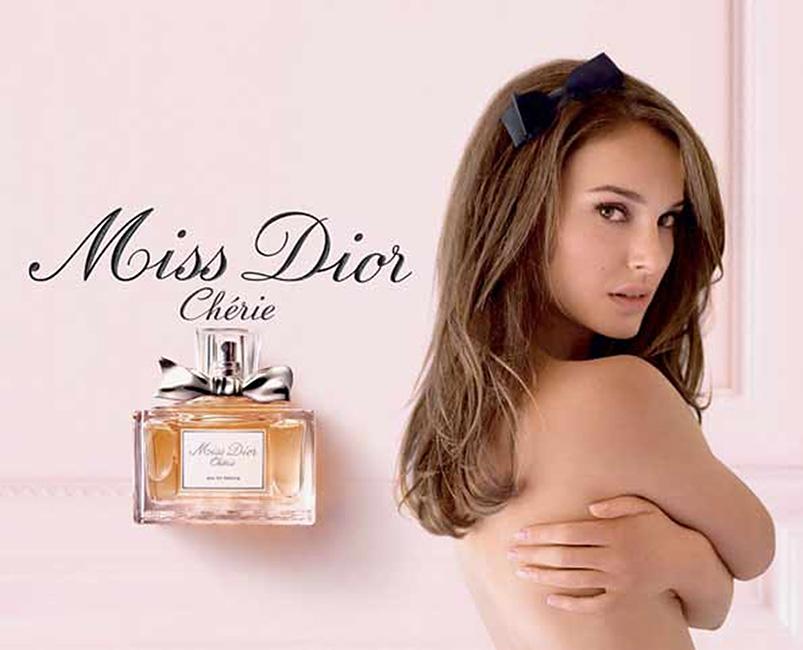 Фото Натали Портман Miss Dior Cherie